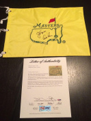Jack Nicklaus & Arnold Palmer Dual Hand Signed Undated Masters Flag Letter - PSA/DNA Certified - Autographed Pin Flags