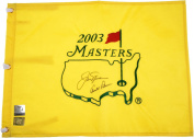 Arnold Palmer and Jack Nicklaus Autographed 2003 Masters Flag with Palmer Hologram and Nicklaus Hologram - Fanatics Authentic Certified