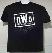 Hulk Hogan Autographed/signed Size Xl Black T-shirt (n.w.o.) 11644 - JSA Certified - Autographed Wrestling Miscellaneous Items