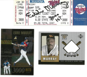 Eddie Murray Signed Cleveland Indians Autographed 3000th Hit Ticket JSA #R98525