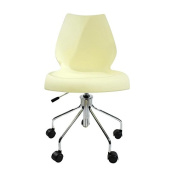 Maui Office Chair returned item (like new/single item) - light yellow/with pneumatic spring