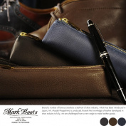 Put a mark Boots deer leather pencil case / for men mens / pencil case / leather leather leather / made in Japan / deerskin / brush / pencil case / simple / present /