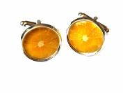 Lemon Slice Chrome Cufflinks