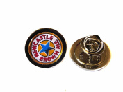 Newcastle Brown Ale Chrome Pin - badge or tie