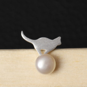 925 Sterling Silver Personality Cat Pearl Earrings Female Natural Pearl Earrings 925 Silver