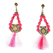 Europe And The United States Handmade Fashion Long Water Droplets Wild Earrings Earrings