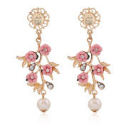 Fashion Simple European And American Branches At First Sight Love Flower Earrings Earrings