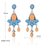Europe And The United States Fashion Trend Of Women Inlaid With Long Earrings Earrings Earrings