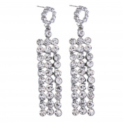 Europe And The United States Fashion Section Tassel Exquisite Diamond Wild Lady Earrings Earrings