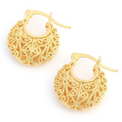 Hollowed-out Earrings Gold Plated Earrings For Women Geometric Design Summer Style Jewellery