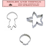Beach Cookie Cutter Set - 3 Pieces - Starfish cookie cutter, Jelly fishfish cookie cutter and Seashell cookie cutter