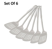 King International Stainless Steel Perforated Turner , Set Of 6 Pieces