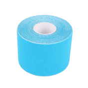 Pro-Style Kinesiology Tape by Vivopro Sports | 5cm Wide x 5m Long, Uncut, Light Blue Colour | Waterproof KT Tape for Athletics, Ideal for Knees, Shoulders, Ankles, Elbow, Hip, Wrists, Back, Much More