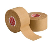 """Mueller P Tape- Beige Strapping Tape- 1.5""""x 15 yard rolls- Strong, Porous, Adhesive Corrective Tape with Serrated Edges"""