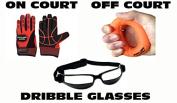Ball Hog Gloves (Weighted) X - Factor & Ball Hog Gloves Hand Grip Strengthener & Dribble Glasses