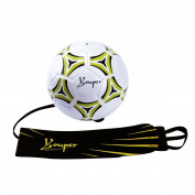 Youper Hands Free Solo Soccer Kick/Throw Trainer - Adjustable Waist Belt with a Soccer Ball Size 4/5