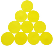 1 SET OF 10 FLAT RUBBER DISC SPOT MARKERS FOR INDOOR SOCCER FUTSAL BASKETBALL