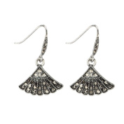 Drop Earring Marcasite Made With Crystal Glass & Zinc Alloy by JOE COOL
