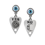 Alchemy Gothic Ouija Planchette Pewter Earrings