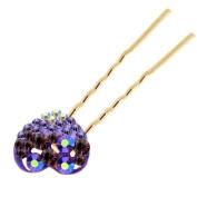 Gold Purple Rainbow Heart Love Bun Hair Pins Accessories Head Decoration HA225