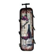Rebecca Srl Wine Holder Bottle Rack To Hang Wood Metal Wall Mounted Retro Room