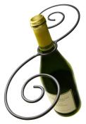 Epicureanist Swirl Wine Bottle And 2 Glass Holder