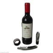 Wine Bottle Accessory Set – Corkscrew – Opener – Collar – Kit –dinner Party
