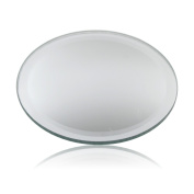 Round Cup Wine Drinks Glass Mirror Coaster Place Mat Mirrored Table Protector