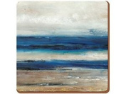 Creative Tops Abstract 'ocean View' Premium Cork-backed Coasters Wood Blue 6-pie