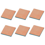 Patterned Tea / Coffee Drinks Coaster - Square - Orange / Blue Design - X6