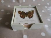 Shabby Chic Butterfly Coasters