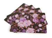 Floral Placemats Pink Set Pack Of Four Cork Table Place