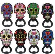 Assorted Colours Skull Bottle Opener With Magnet Fridge Kitchen Tool Decor