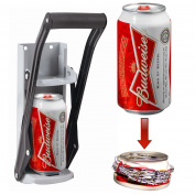 16oz Can Crusher 500ml Large Beer Tin Recycling Tool Wall Mounted Bottle Opener