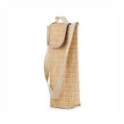 Faux Wicker Wine Cooler Bag By Kikkerland