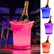 Led Colour Changing Ice Bucket Champagne Wine Drinks Cooler Retro Party Xmas