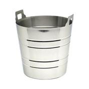 Genware Nev-45 Wine Bucket, With Integral Handles, Stainless Steel