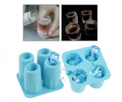 Imbs Ice Shot Glass Maker Tray Mould - Makes Frozen Shot Glasses From Chocolate,