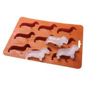 Ayomi Cute Dachshund Dog Shaped Ice Cube Mould Tray