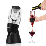 Easehold Wine Aerator Decanter With Rubber Stand Removable Filter Screen For And