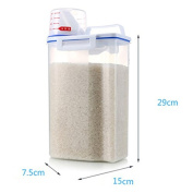 Yunhigh Plastic Cereal Container Kitchen Food Storage Container with Measuring Cup- 4L