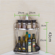 Mizii Multifunction Stainless steel Kitchen Shelf,Kitchen Rack and Pan Rack/Cooker Shelf,With Load 40 kg(Silver)