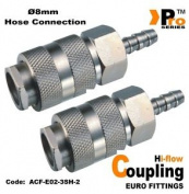 Twin Pack-hi Flow (euro Fitting)quick Release Coupling/ Hose Connector ø8mm 002