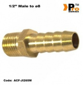 1.3cm Bsp Brass Male To ø8 Hose Connector For Air Lines 004