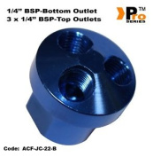 3 Way Connector- 0.6cm Bsp Top Outlets + 2.5cm X 0.6cm Bsp Bottom Outlet 001