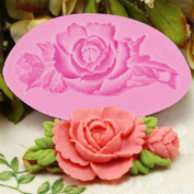 Gluckliy Rose Flower Silicone Mould Fondant Chocolate Sugar Craft Cake Mould Decorating DIY Baking Mould