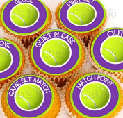 Tennis Cake Toppers - Edible Wafer - 24 x 4cm