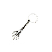 Vintage Antique Silver Skull Keychain Bone Hand Key Claw Chain for Women Men Palm Skull Keychain Jewellery