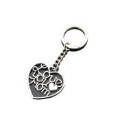 Antique Silver Big Heart love you Mam Pendant Keychain Best Mother Gifts Women Family Jewellery