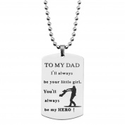 To My Dad Necklace I'll Always Be Your Little Girl Necklace Gift For Father